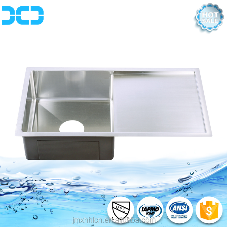 stainless steel sink kitchen sink single bowl with dish drainer R3317