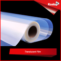 Semi-transparent film roll for inkjet printing, 100 micron inkjet waterproof pet film