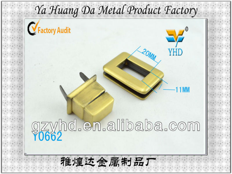 zinc alloy lock for lady handbag /handbag accessories