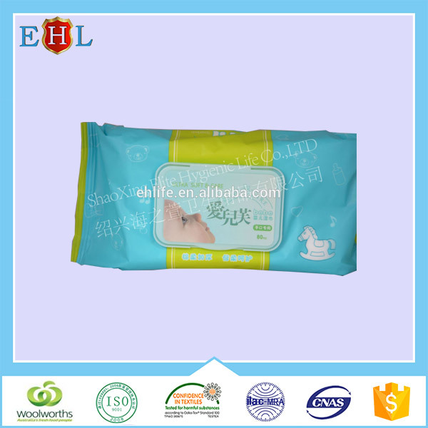 Best selling Disposable Soft 100% Bamboo Baby Wet Wipe tissue