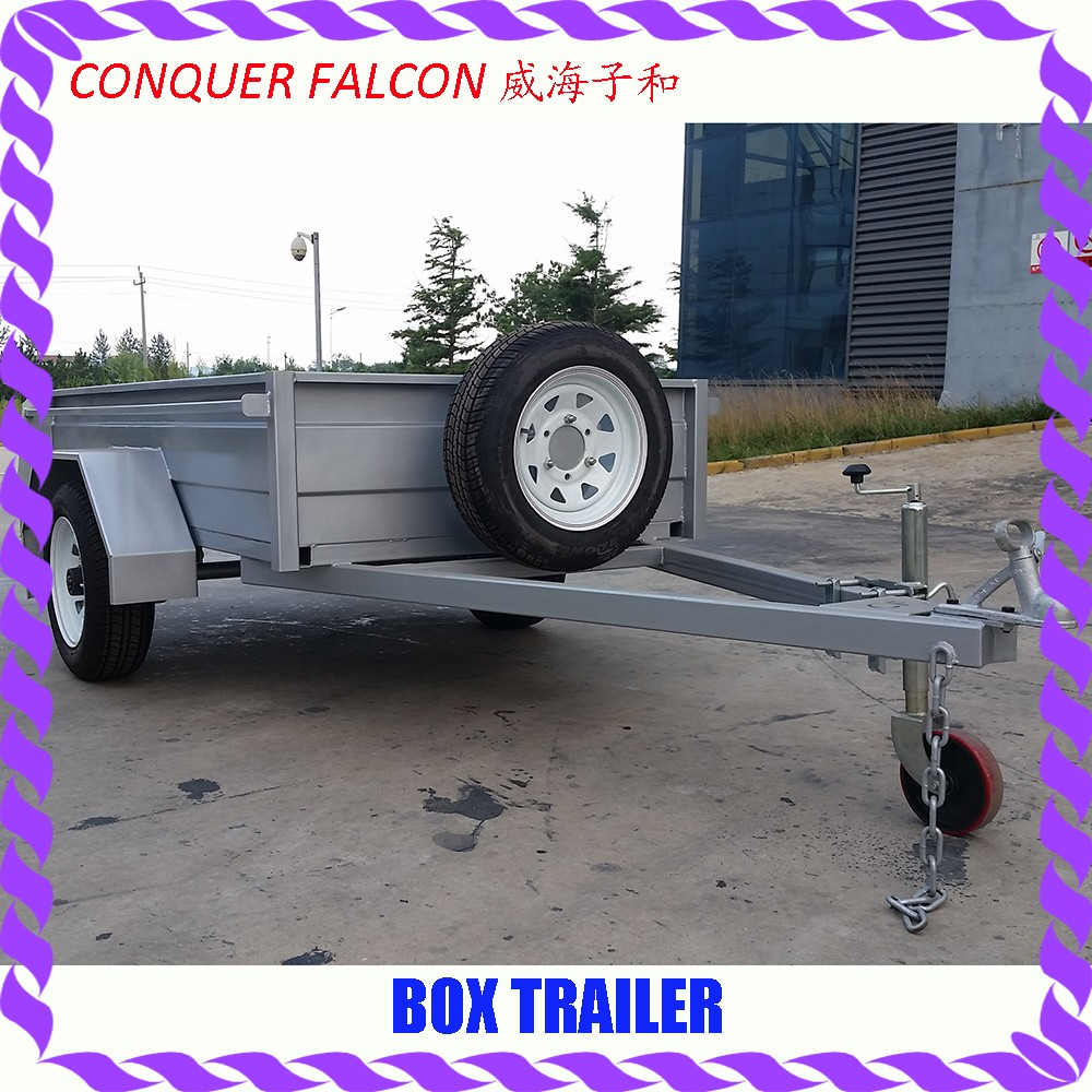 7x5 hot dip galvanized Fully welded small box trailer