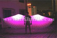 Party/ club/ stage decoration inflatable angle wings with LED light C3008