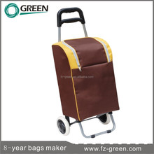 2014 Low Price Promotional Shopping Trolley Bag With 2 Wheels