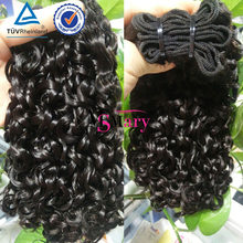 Remy Curly Brazilian human hair weave,Double Drawn Funmi Hair Extensions