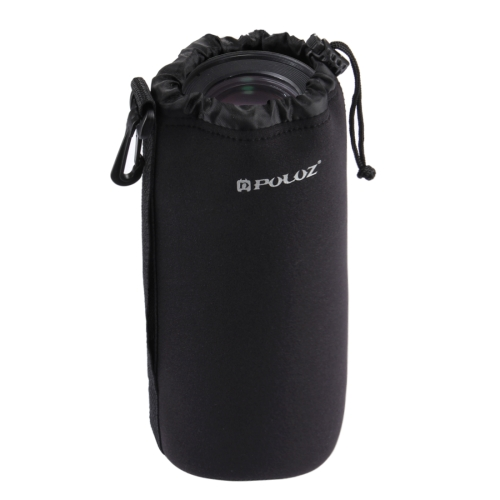 Alibaba Wholesale PULUZ Neoprene 27cm x 10cm DSLR Camera Lens Carrying Bag with Hook for Cameras