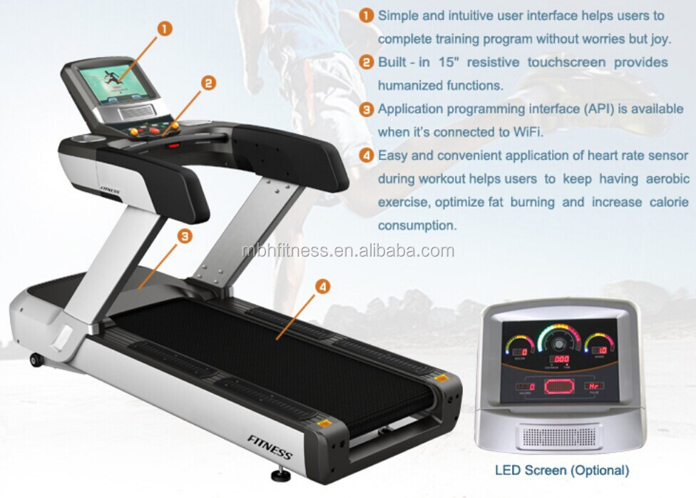 Wifi function commercial treadmill M-06/fitness equipment/commercial treadmill