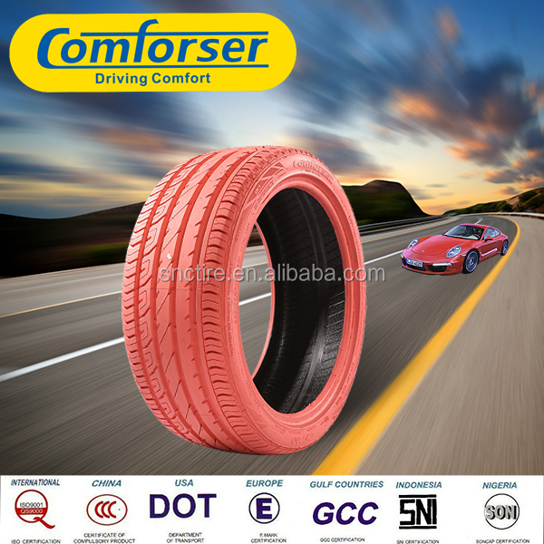 Pink colored car tires COMFORSER PRC radial passenger car tire made in china com
