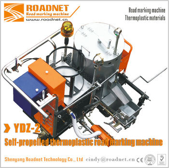 Self-propelled honda gasoline engine thermoplastic screed road line paint machine for road marking