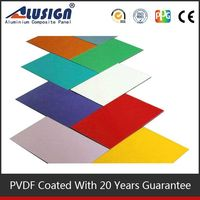 Alusign famous aluminum composite panels maufacturer decorative corrugated metal wall panel