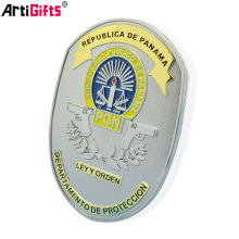 Free Sample Wholesale Cheap custom metal military security guard badges