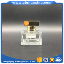 25ml classic design portable rectangle glass perfume bottlel wholesale bulk perfume with colourful UV high cap