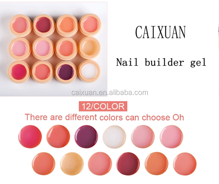 OEM Colors Builder gel pure colors soak off LED/UV curing nail gel polish