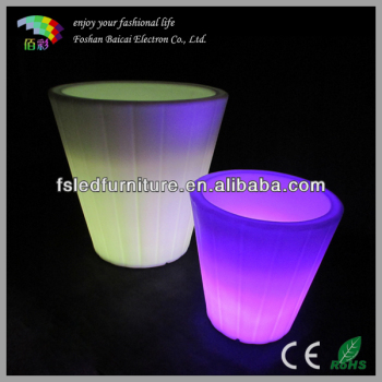 Color changing RGB plastic led flower pot, indoor or outdoor led flower pot BCG-922V