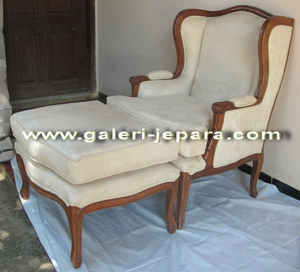 Sofa Wooden Comfort Furniture - Sofa with Match Stool - Indonesia Custom Design