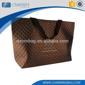 New product unique design tote brown handle non woven shopping bag