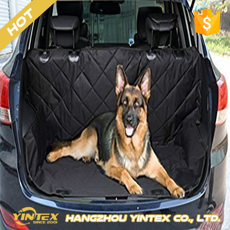 China pet product supplier Non-slip Pet Car Back Seat Cover Water-proof Dog Safety Hammock Protector Mat for Trunk SUV