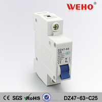 25A 1P electrical mcb type miniature over-voltage protection circuit breaker