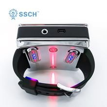 pain relief medical semiconductor infrared 650nm high blood pressure soft low level light laser wrist therapy device