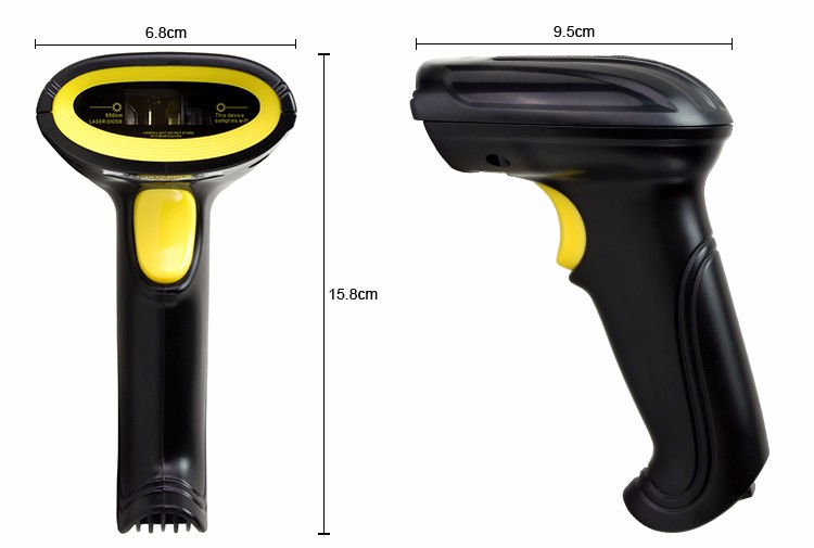 Excellent quality cheap price Laser Bar code Reader Portable 1D Wired Barcode Scanner