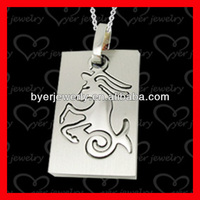 stainless steel horse engraved pendant jewelry