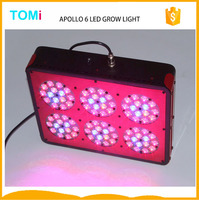 New present Apollo 6 LED hydroponics growing light system full spectrum 90*3W area 51 led grow lights