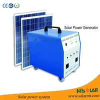 Portable indoor solar kit with phone charger for power cut, no electricity