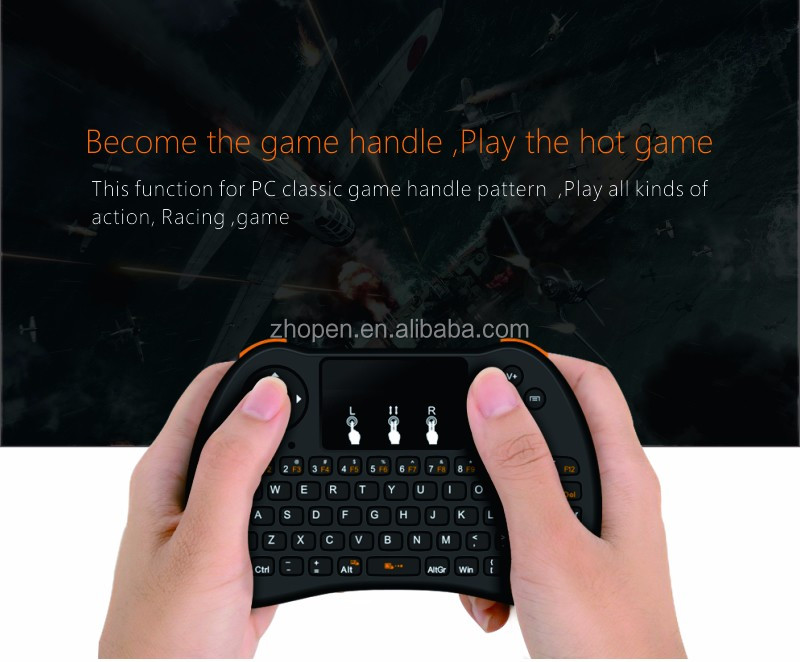new android tv stick keyboard h9 backlit 2.4g mouse keyboard made in zhopen factory