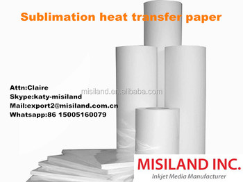 Sublimation Heat Transfer inkjet Paper (100gsm, Use Subilimation ink)