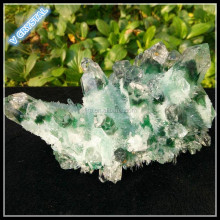 Green Phantom Crystal Cluster Wholesale Natural Quartz Cluster Natural Clear Phantom Quartz Crystal Cluster Shinning