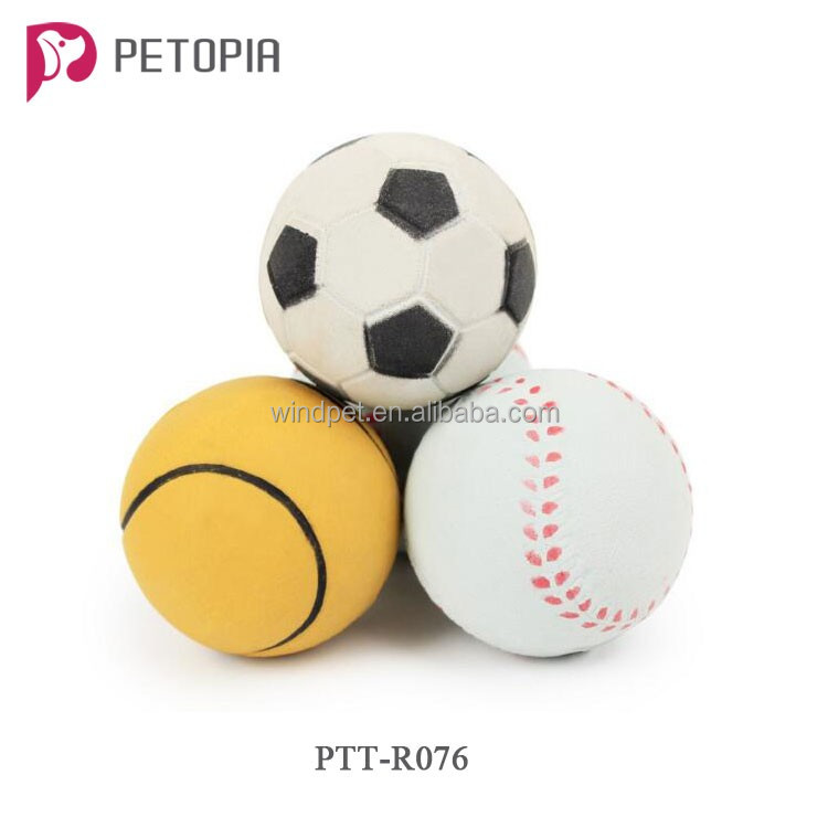 Soccer Baseball Football Shape Rubber Dog Toys Solid Bouncing Ball Interactive Toys Bite Resistant Pet Toy