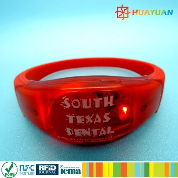 Country Music Awards NFC MIFARE Classic EV1 1K Silicone RFID LED wristbands