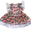 XF-653 Flutter children wholesale smocked dresses new productions of baby dresses floral frock designs