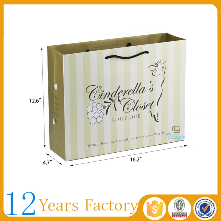 Cloth packaging paper bags with handles wholesale