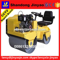CCTV interview report company hot sale road roller, two drums road roller in factory price, Gasoline roller in famous brand pump