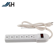 Upgrade Innovative US Power Strip/3 Pin US Electric Extension Socket/6 Outlet USA Power Strip