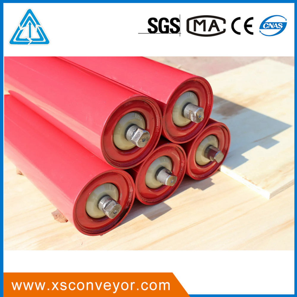 Belt conveyor steel roller for Assembly Line Conveyor Belt Steel Tube Return Idler For Conveyor Spare Parts/CEMA