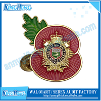 2015 new products royal logistic corps poppy lapel pin
