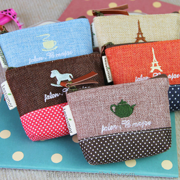 small joint cotton coin purse