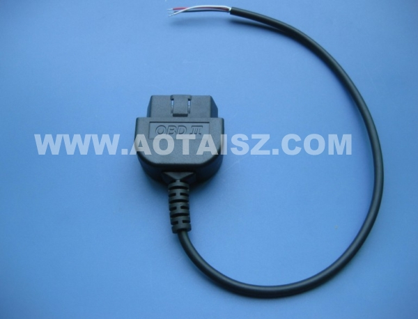 J1962 f extent obdii cable obd to open end diagnostic 3pin cable