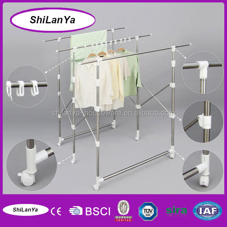 Mobile clothes hanger drying rack