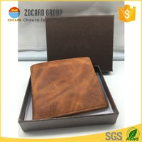 Mens RFID Blocking Travel Leather Wallet