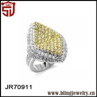 Micropave Setting 925 Silver China CZ Walmart Engagement Rings