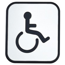 Stainless Steel Door Sign Board Toilte - Disabled(98.5mm *86.5mm)