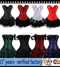 Sexy Gorgeous Burlesque Corset & tutu skirt Fancy dress outfit Halloween Costume