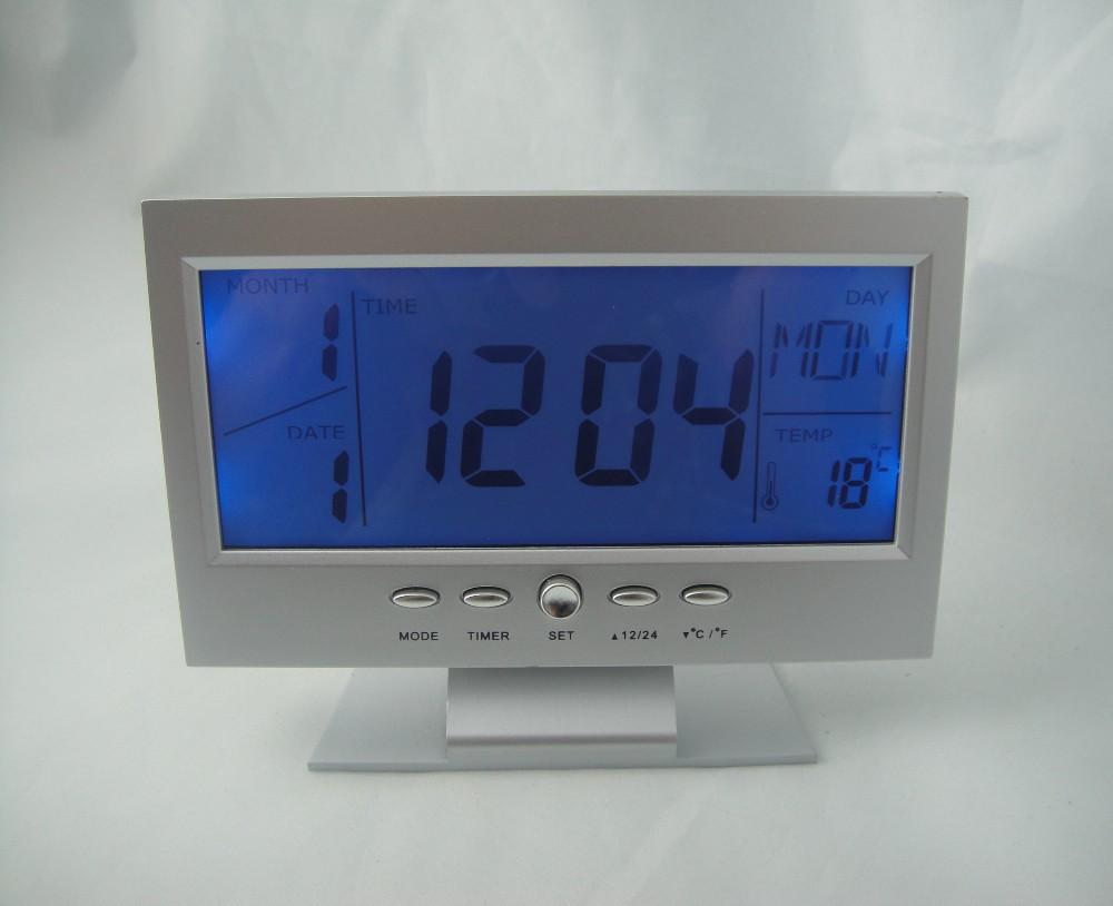 Calendar Clock Wallpaper For Desktop : Desktop digitale kalender klok geluid gecontroleerd desk tafelklokken product id