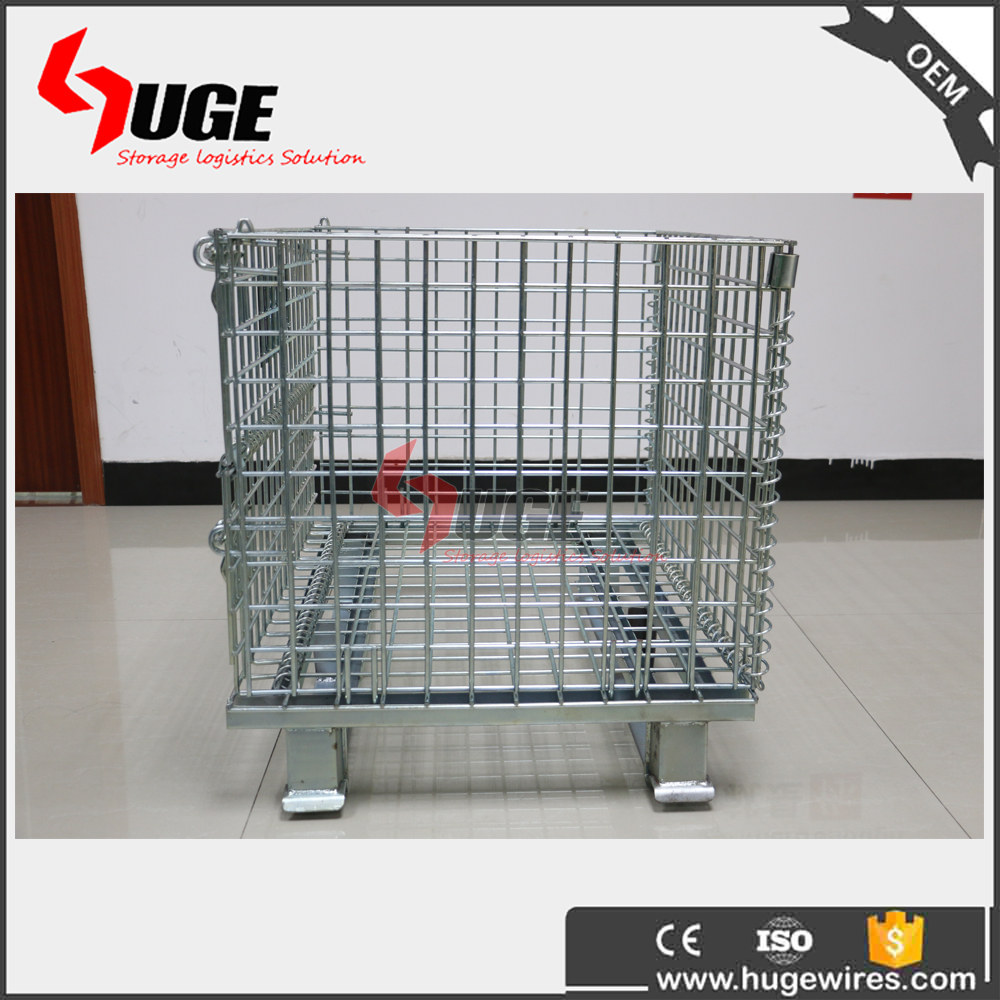 Movable Portable Bulk Metal Wire Mesh Storage Baskets For Storage