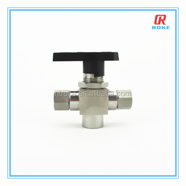 ROKE 6000psi ss316 3 way ball valve for cng