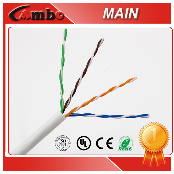 Top Material Cable CAT5 STP AL Foil Shielded 0.5MM Solid Copper 1000FT