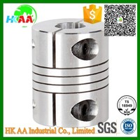 Custom design cnc machined stepper motor universal shaft coupling aluminum electric motor shaft coupling