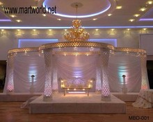 High quality crystal wedding mandap with LED light(MBD-001)